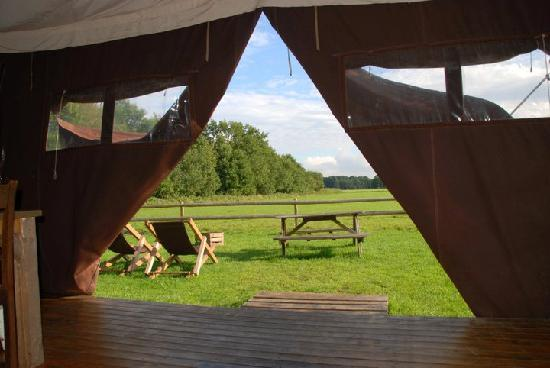 Caledonia, IL: Your view from the 484 square feet Feather Down tents from www.featherdown.com