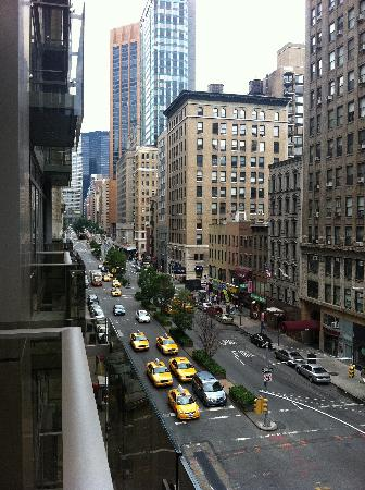 Great balcony views as well picture of gansevoort for Balcony new york