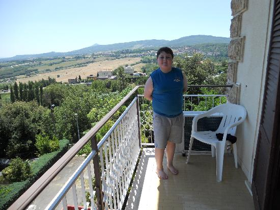 Chianciano Terme, Italy: View from our balcony
