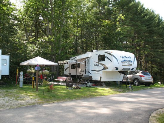 Eastern Slope Camping Area: Our campsite