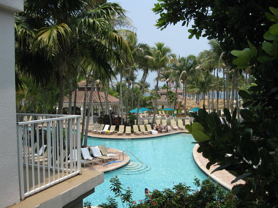 Lago Mar Resort and Club: view from 2nd floor public balcony