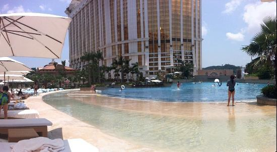 View From The Beach Looking At Wave Pool Picture Of Galaxy Hotel Macau Tripadvisor