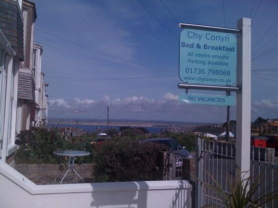Chy Conyn Bed & Breakfast: View from front. perfect!