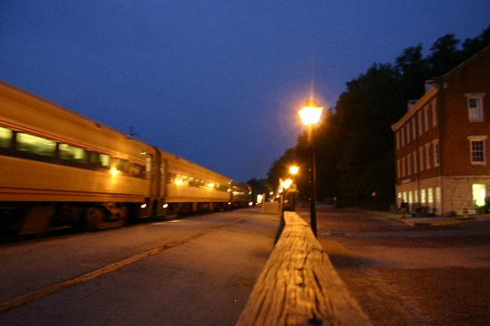 Amtrak makes a stop in the heart of Jefferson City.  The train is a great way to travel to the c
