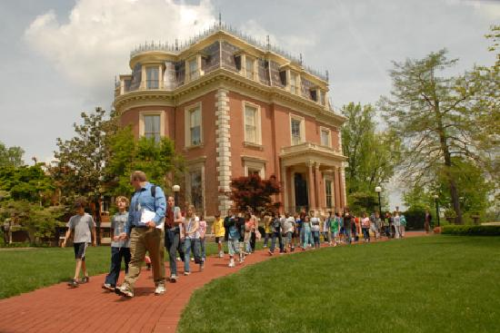 Jefferson City, MO: The Missouri Governor's Mansion is open to the public for tours of the first floor.