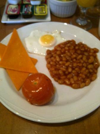 Hilton Maidstone: teh only remaining vegetarian options for breakfast
