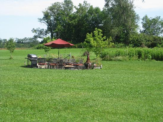 The Meadowlark Inn Cooperstown: BBQ patio