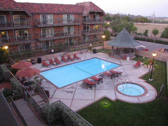Solvang, CA: Our view of the pool