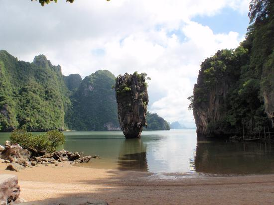 Rawai, Thailand: Iconic James Bond Island ... and not a soul on the beach. Heaven!