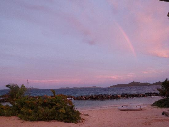 West End, Tortola: rainbow at frenchmans beach