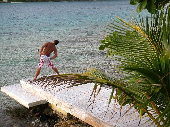 West End, Tortola: yoga on Frenchmans pier