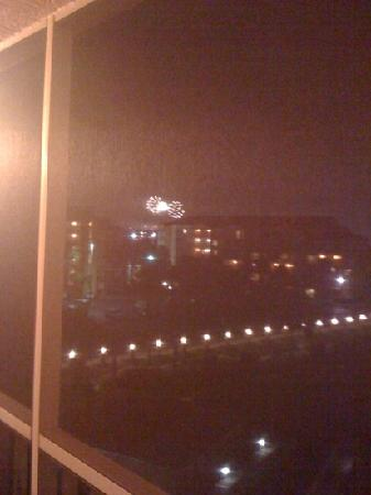 Westgate Town Center: firework view from our balcony we had a 3bdr we had two balconies total