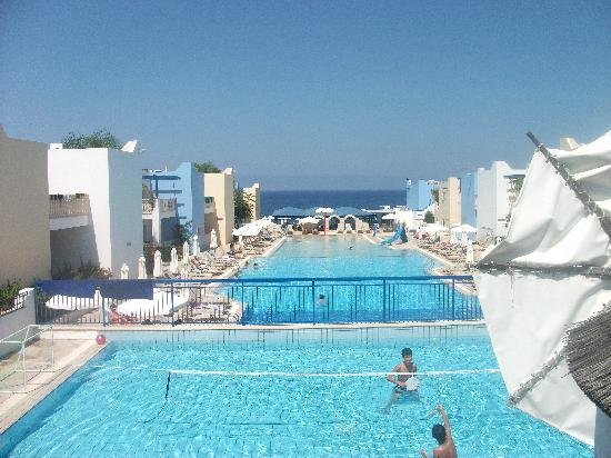 Eleni Holiday Village: View over pools