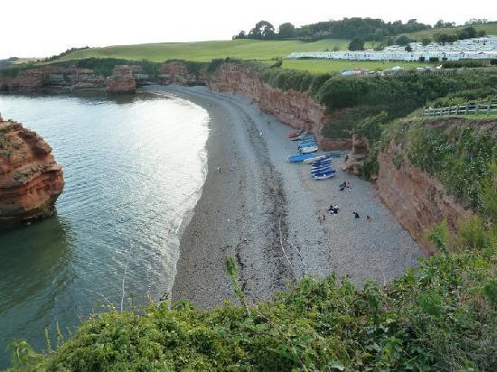 Budleigh Salterton, UK: Overlooking beach