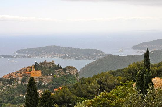 Domaine Pins Paul: View from our window of Eze and coastline