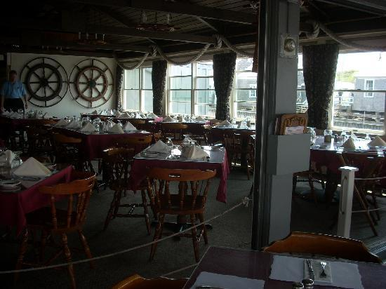 mattakeese wharf the dining room is charming and also has a view of