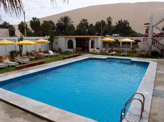 Pool With View Of Sand Dunes Picture Of Huacachina Ica Region Tripadvisor