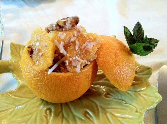 Grape Leaf Inn: stuffed oranges - just the first course!