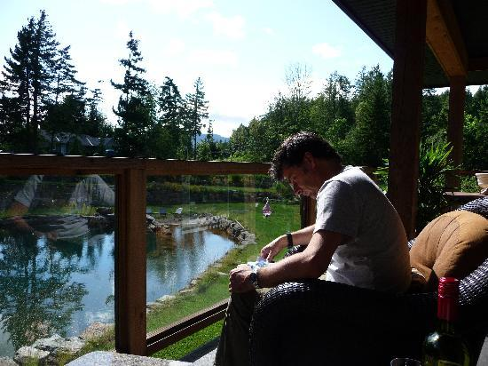 Stone Wood Bed and Breakfast: relaxing on the balcony