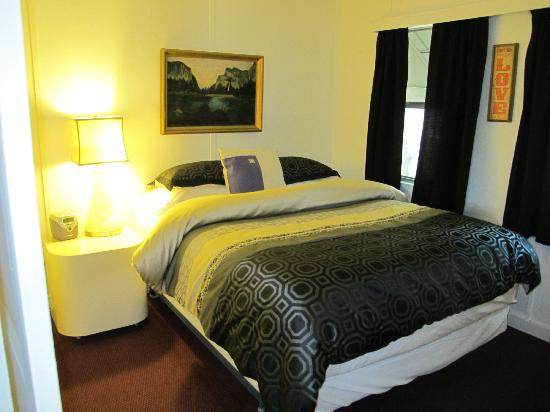 """The Motor Lodge: one of the bedrooms in the """"apartment"""""""