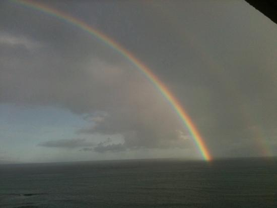 Sands of Kahana: morning rainbow viewed from room