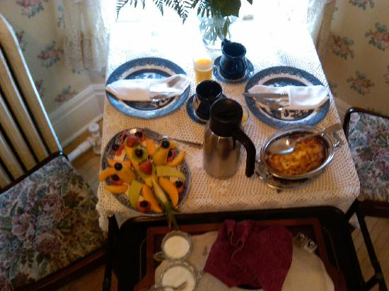 The Ellery House: One of the breakfast spreads