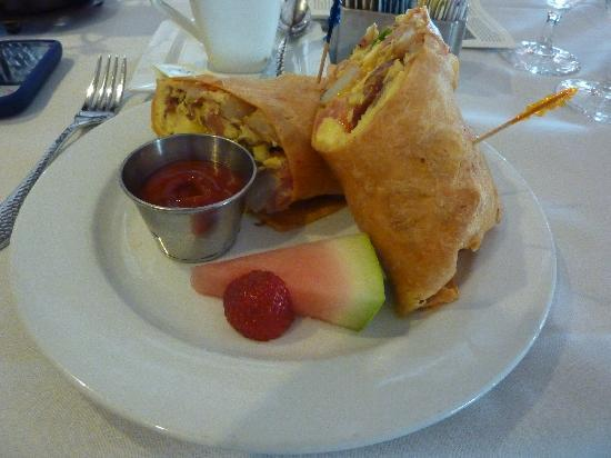 1862 David Walley&#39;s Hot Springs Resort and Spa: Breakfast Burrito at the Restaurant 1862