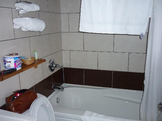 Ponderosa Motor Inn: renovated and clean bathroom