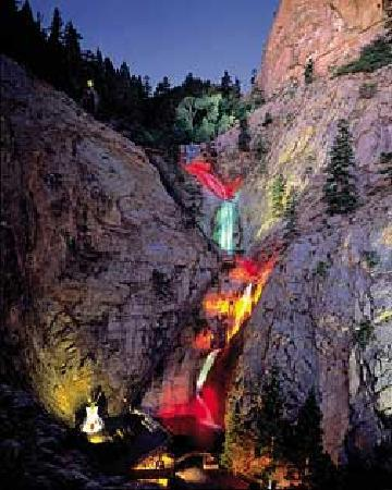 Poster furthermore Seven Falls moreover 381961612126183850 further Broadmoor Soaring Adventures likewise Christmas. on winter lights at broadmoor seven falls