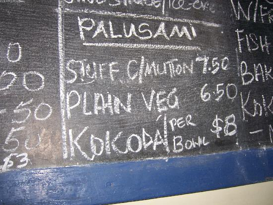 The Old Mill Cottage: Blackboard menu