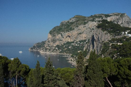 Villa Brunella: the view from the pool
