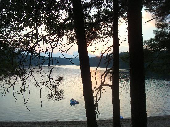 Papoose Pond Family Campground & Cabins: view of Papoose Pond from my campfire..