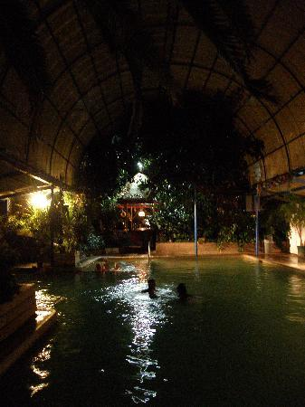 Indian Springs Resort: The pool at night