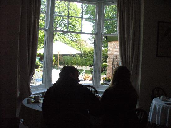 Elmdon Lodge: View from the breakfast area