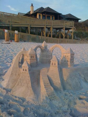 Rosemary Beach, FL: Sand Castles in the beautiful sand!