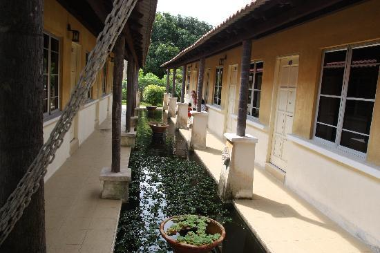 Mayangsari Dungun: Pond in front of the room.
