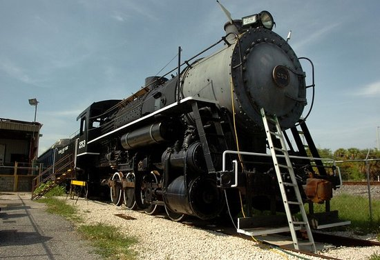 Steam locomotive #253 awaits visitors in Fort Pierce.