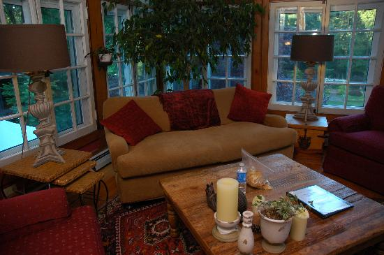 Brandt House: The sunroom.