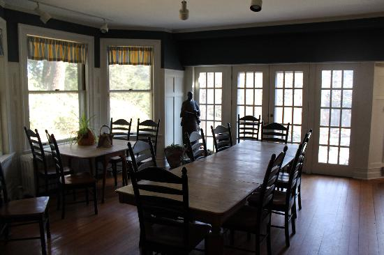 Brandt House: The dining room.