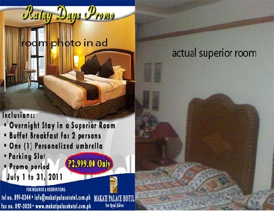 Deceiving ad picture of makati palace hotel makati for Design hotel employee rate