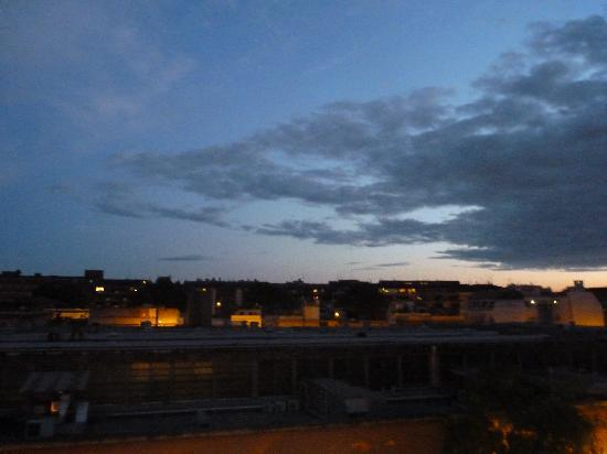 Hotel Best Roma: View from shared balcony on our floor.