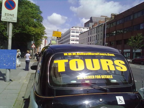 Book our london cabs for a genuine tour picture of for Belfast mural tours