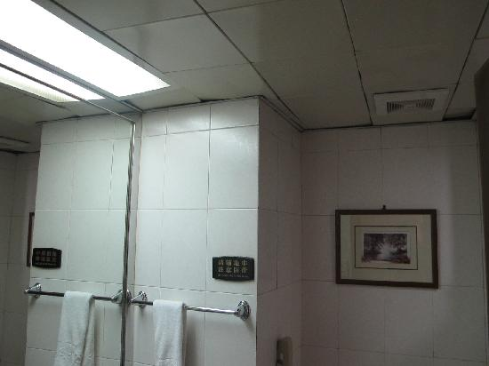 Melody Hotel: Dilapitated bathroom ceiling
