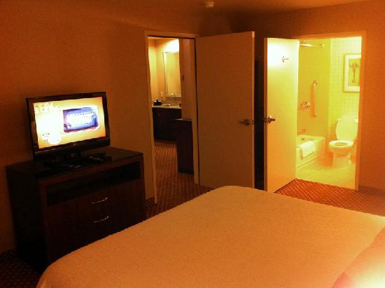 Hilton Garden Inn Albuquerque Uptown: Spacious bedroom with LCD TV.