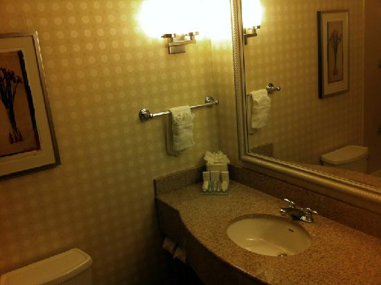 Hilton Garden Inn Albuquerque Uptown: Clean, well equipped bathroom.