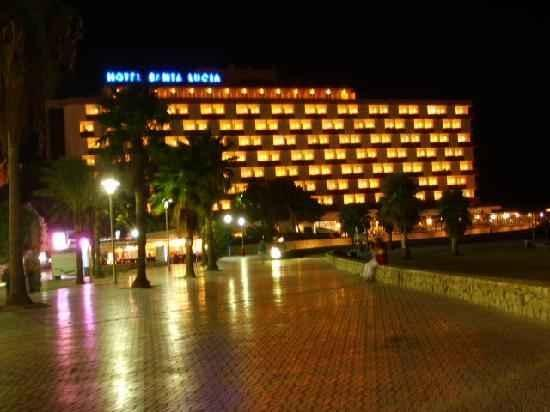 Santa Lucia Hotel: all lit up, easy to find at night when walking home drunk lol