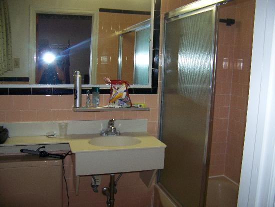 Bassett Motel: one of the bathrooms