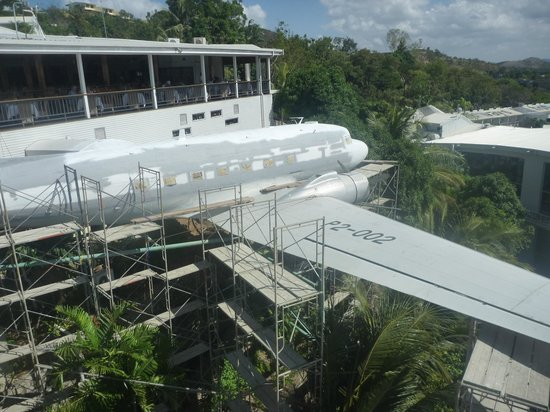 Internet Cafe in old DC3 aircraft - Picture of Airways Hotel, Port Moresby