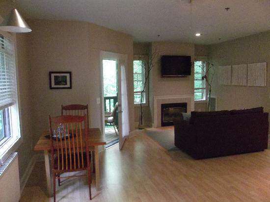 Mountain Laurel Rest: Sitting area with fireplace in bedroom