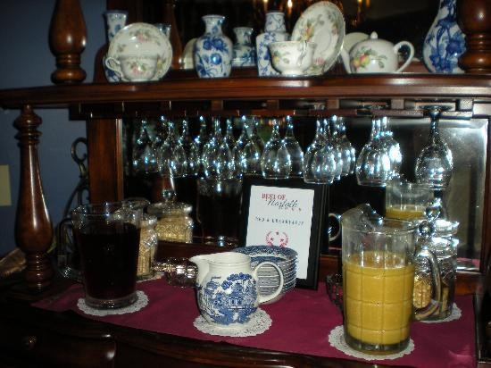 Page House Inn: Choice of Juices